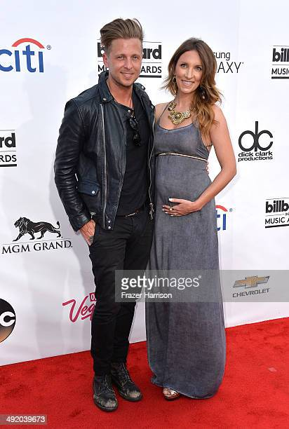 Musician Ryan Tedder of OneRepublic and Genevieve Tedder attend the 2014 Billboard Music Awards at the MGM Grand Garden Arena on May 18 2014 in Las...