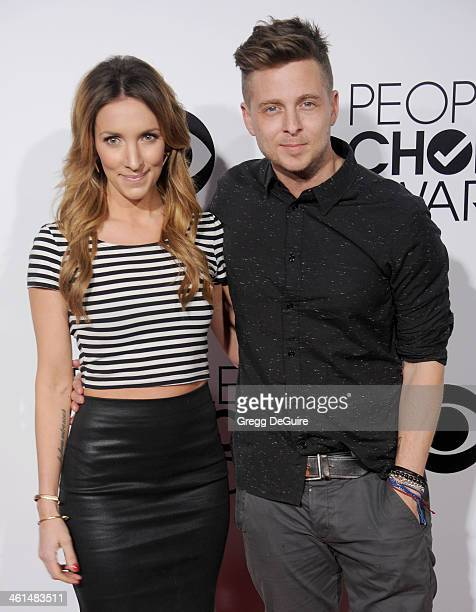 Musician Ryan Tedder of OneRepublic and wife Genevieve Tedder arrive at the 40th Annual People's Choice Awards at Nokia Theatre LA Live on January 8...