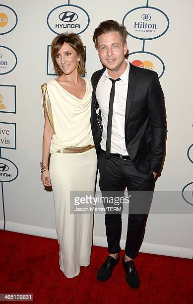 Musician Ryan Tedder of OneRepublic and wife Genevieve Tedder attend the 56th annual GRAMMY Awards PreGRAMMY Gala and Salute to Industry Icons...