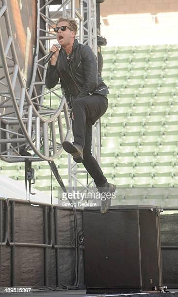 Musician Ryan Tedder of OneRepublic performs at 1027 KIIS FM's 2014 Wango Tango at StubHub Center on May 10 2014 in Los Angeles California
