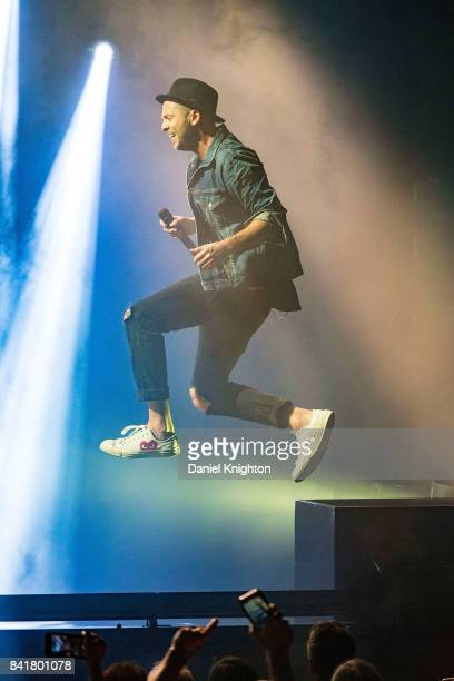 Musician Ryan Tedder of OneRepublic performs on stage at Mattress Firm Amphitheatre on September 1 2017 in Chula Vista California
