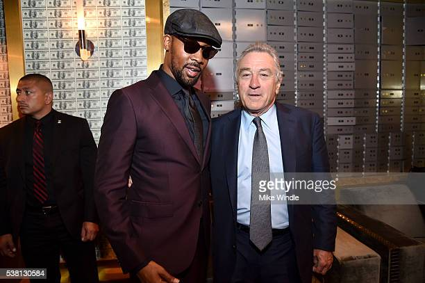 Musician RZA and actor Robert De Niro attend Spike TV's 10th Annual Guys Choice Awards at Sony Pictures Studios on June 4 2016 in Culver City...
