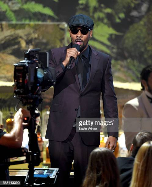 Musician RZA speaks onstage during Spike TV's 10th Annual Guys Choice Awards at Sony Pictures Studios on June 4 2016 in Culver City California