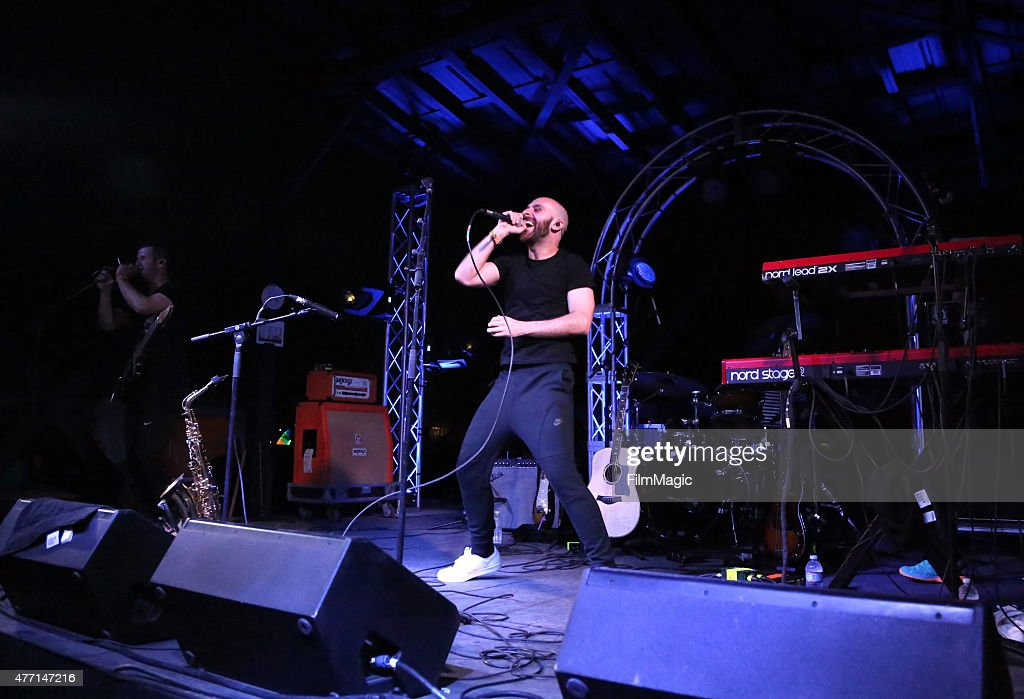 Musician Sam Harris of X Ambassadors performs onstage at Who