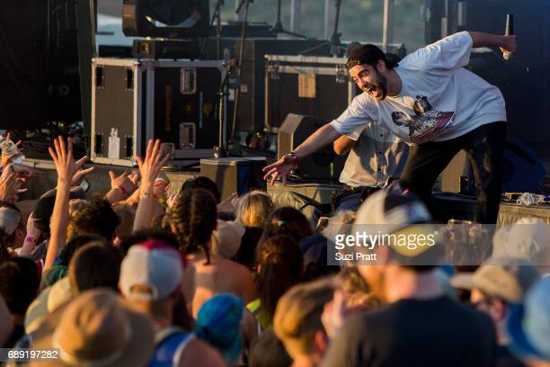 Musician Sam Lachow performs at the Sasquatch Music Festival at Gorge Amphitheatre on May 27 2017 in George Washington