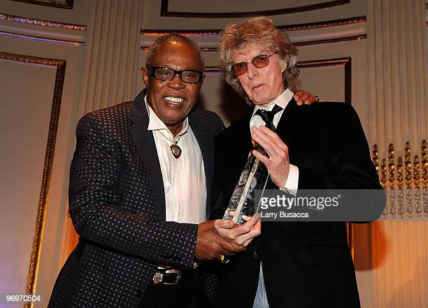*EXCLUSIVE* Musician Sam Moore accepts the AMEE Lifetime Achievement Award in Sound Recordings from radio personality Don Imus at the 2010 AFTRA AMEE...
