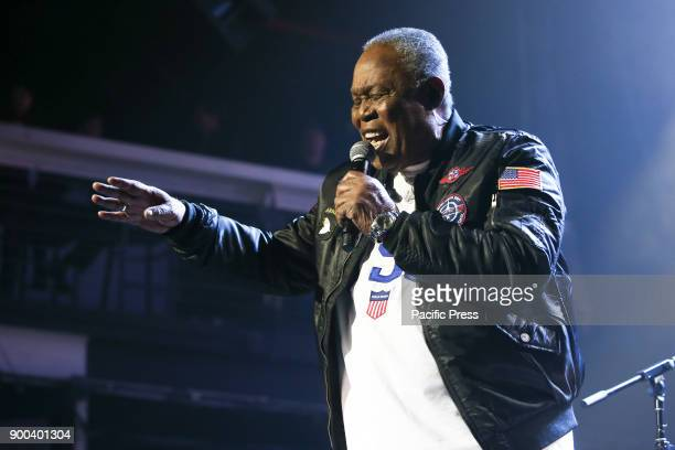 Musician Sam Moore performs at America Salutes You and Wall Street Rocks Presents Guitar Legends For Heroes