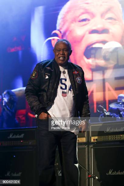 Musician Sam Moore performs at America Salutes You and Wall Street Rocks Presents Guitar Legends For Heroes at Terminal