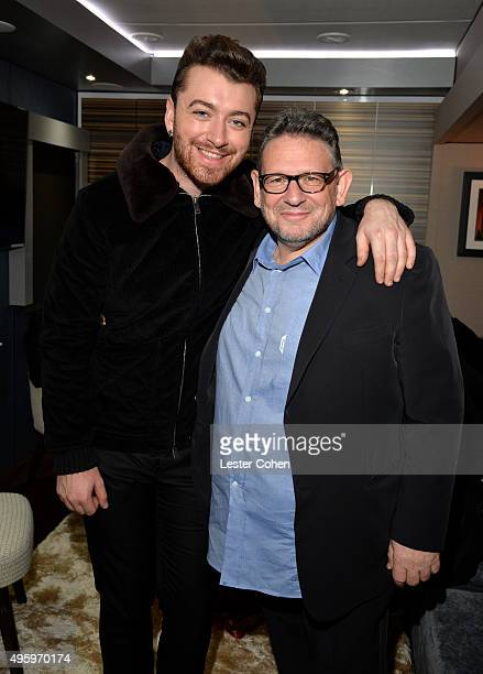 Musician Sam Smith and UMG Chairman and CEO Lucian Grainge attend the City Of Hope 2015 Spirit Of Life Gala Honoring UMG Chairman And CEO Lucian...