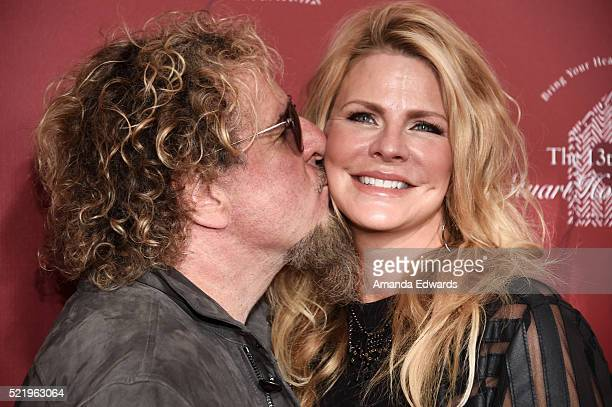 Musician Sammy Hagar and his wife Kari Hagar arrive at the John Varvatos 13th Annual Stuart House Benefit presented by Chrysler with kids' tent by...