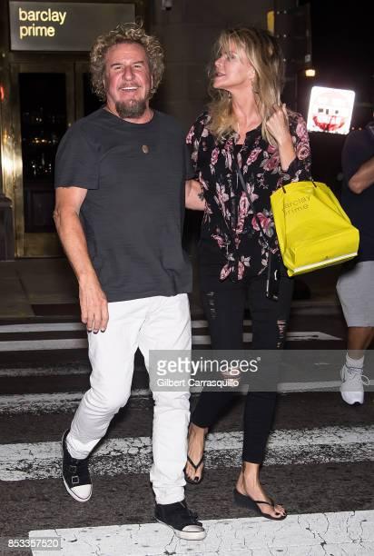 Musician Sammy Hagar and wife Kari Hagar are seen on September 24 2017 in Philadelphia Pennsylvania