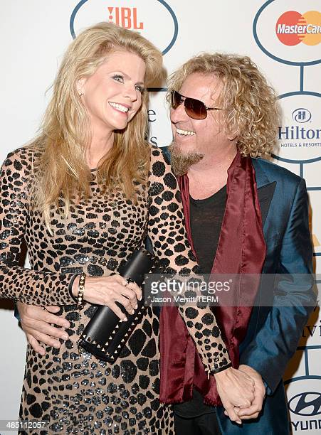 Musician Sammy Hagar and wife Kari Hagar attend the 56th annual GRAMMY Awards PreGRAMMY Gala and Salute to Industry Icons honoring Lucian Grainge at...