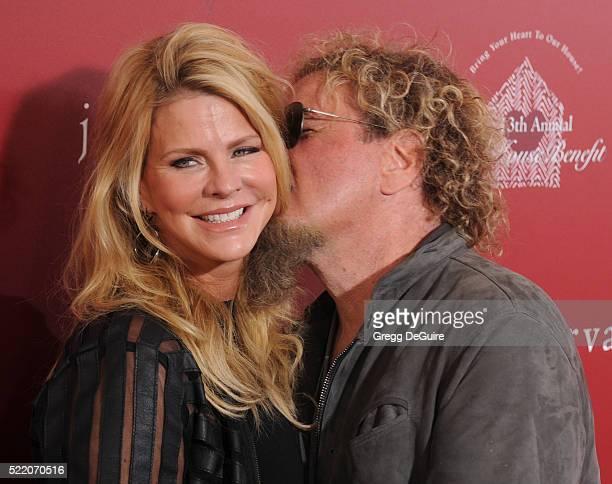 Musician Sammy Hagar and wife Kari KarteHagar arrive at the 13th Annual Stuart House Benefit at John Varvatos on April 17 2016 in Los Angeles...