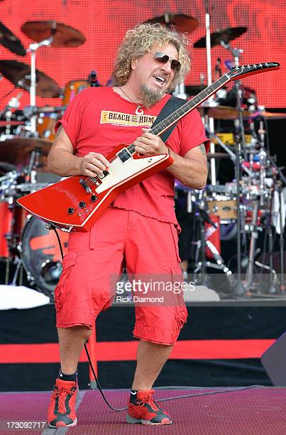 Musician Sammy Hagar performs during the Oklahoma Twister Relief Concert to benefit United Way of Central Oklahoma May Tornadoes Relief Fund at...