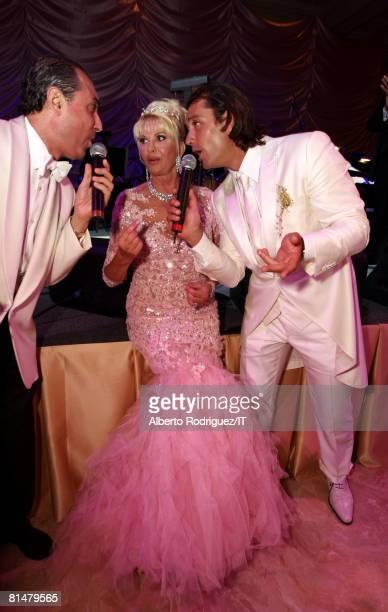 Musician Samy Goz Ivana Trump and Rossano Rubicondi during the wedding reception of Ivana Trump and Rossano Rubicondi at the MaraLago Club on April...