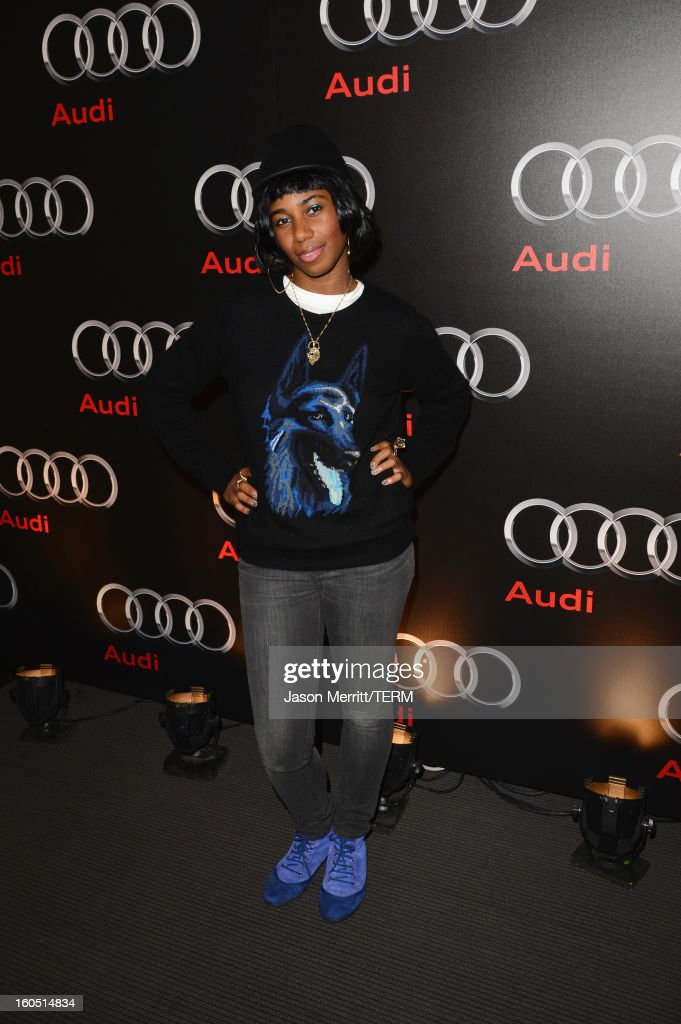 Musician Santigold attends the Audi Forum New Orleans at the Ogden Museum of Southern Art on February 1, 2013 in New Orleans, Louisiana.