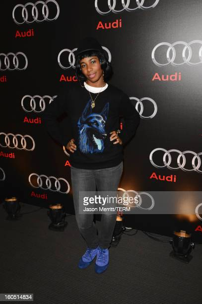 Musician Santigold attends the Audi Forum New Orleans at the Ogden Museum of Southern Art on February 1 2013 in New Orleans Louisiana