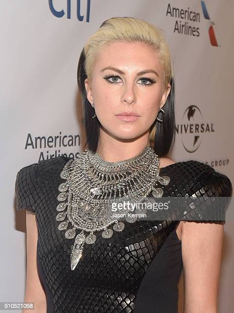 Musician Sarah Barthel of Phantogram attends Universal Music Group 2016 Grammy After Party presented by American Airlines and Citi at The Theatre at...