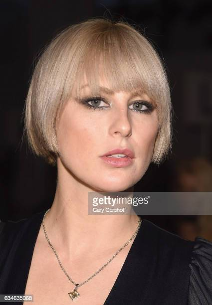 Musician Sarah Barthel of the band Phantogram attends the Cushnie Et Ochs fashion show during February 2017 New York Fashion Week at Gallery 1...