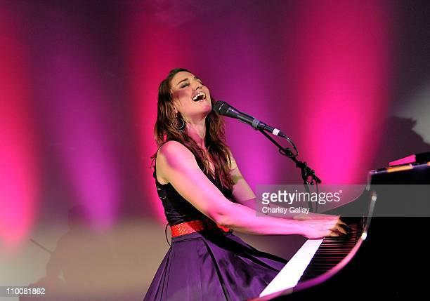 Musician Sarah Borellis performs at Miranda Cosgrove's Sweet 16 Party at Siren on May 16, 2009 in Los Angeles, California.