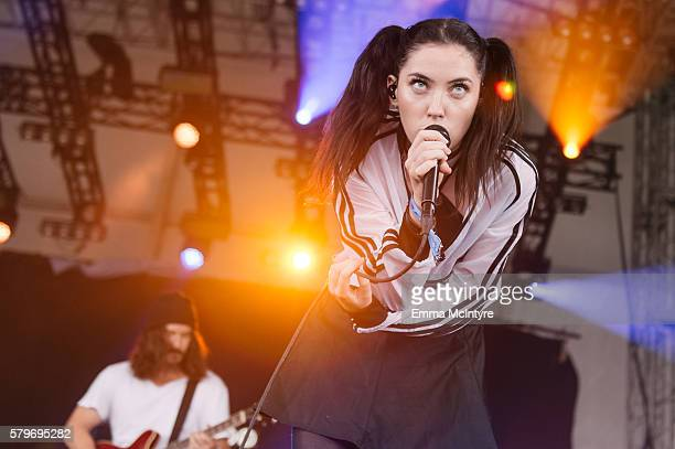 Musician Sarah Grace McLaughlin aka 'Bishop Briggs' performs onstage at the 2016 WayHome Music and Arts Festival on July 24 2016 in OroMedonte Canada