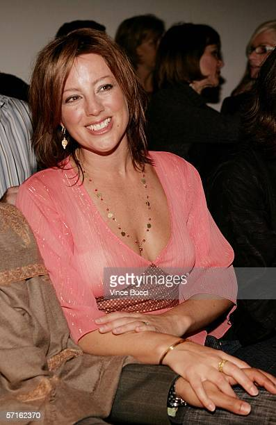 Musician Sarah McLachlan in the front row at the Chulo Pony Fall 2006 show during the Mercedes Benz Fashion Week at Smashbox Studios on March 22 2006...