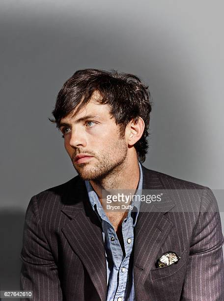 Musician Scott Avett of The Avett Brothers is photographed for Rolling Stone Magazine on October 8 2013 in Los Angeles California