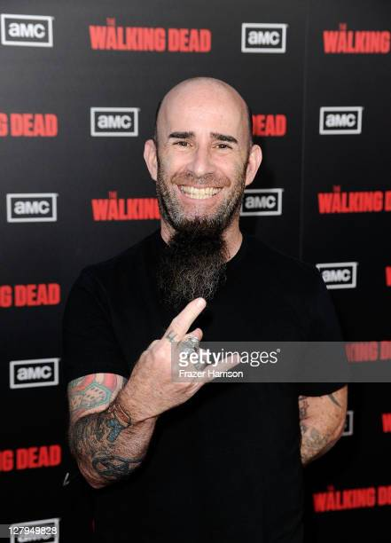 Musician Scott Ian arrives at the premiere of AMC's 'The Walking Dead' 2nd Season at LA Live Theaters on October 3 2011 in Los Angeles California