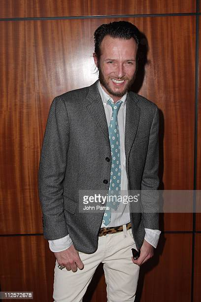Musician Scott Weiland poses at the RitzCarlton South Beach during the 2008 All Star Gala on January 19 2008 in Miami Beach Florida