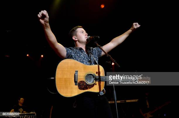 Musician Scotty McCreery performs the ACM Awards official after party at The Joint inside the Hard Rock Hotel Casino on April 2 2017 in Las Vegas...