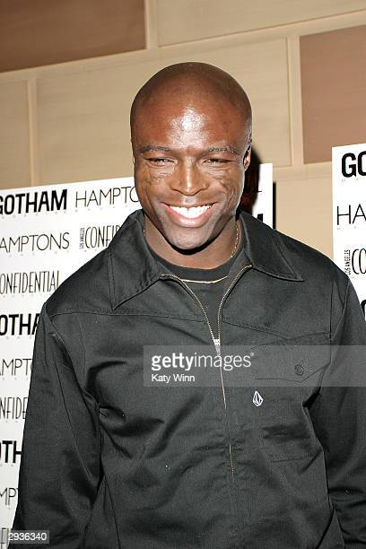 Musician Seal arrives at the Gotham and Los Angeles Confidential Magazine Anniversary Party on February 5 2004 in New York