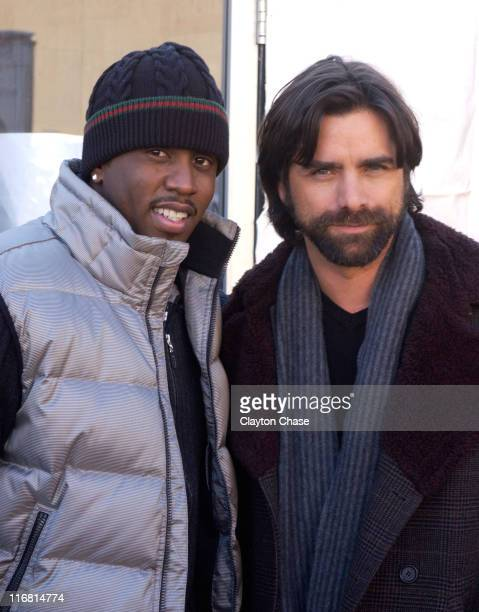 Musician Sean Diddy Combs and John Stamos seen around town at the 2008 Sundance Film Festival on January 23 2008 in Park City Utah