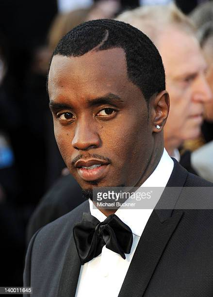 Musician Sean 'Diddy' Combs arrives at the 84th Annual Academy Awards held at the Hollywood Highland Center on February 26 2012 in Hollywood...