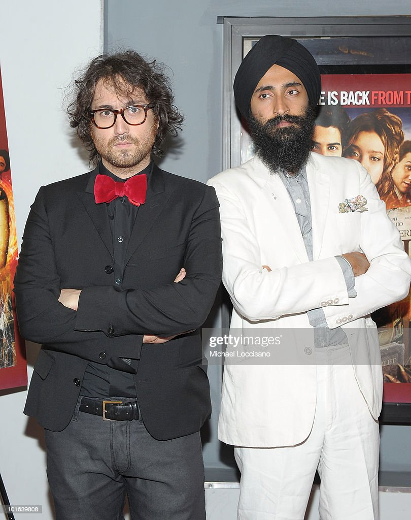 Musician Sean Lennon and actor Waris Ahluwalia attend the premiere of 'Rosencrantz and Guildenstern Are Undead' at Village East Cinema on June 4, 2010 in New York City.