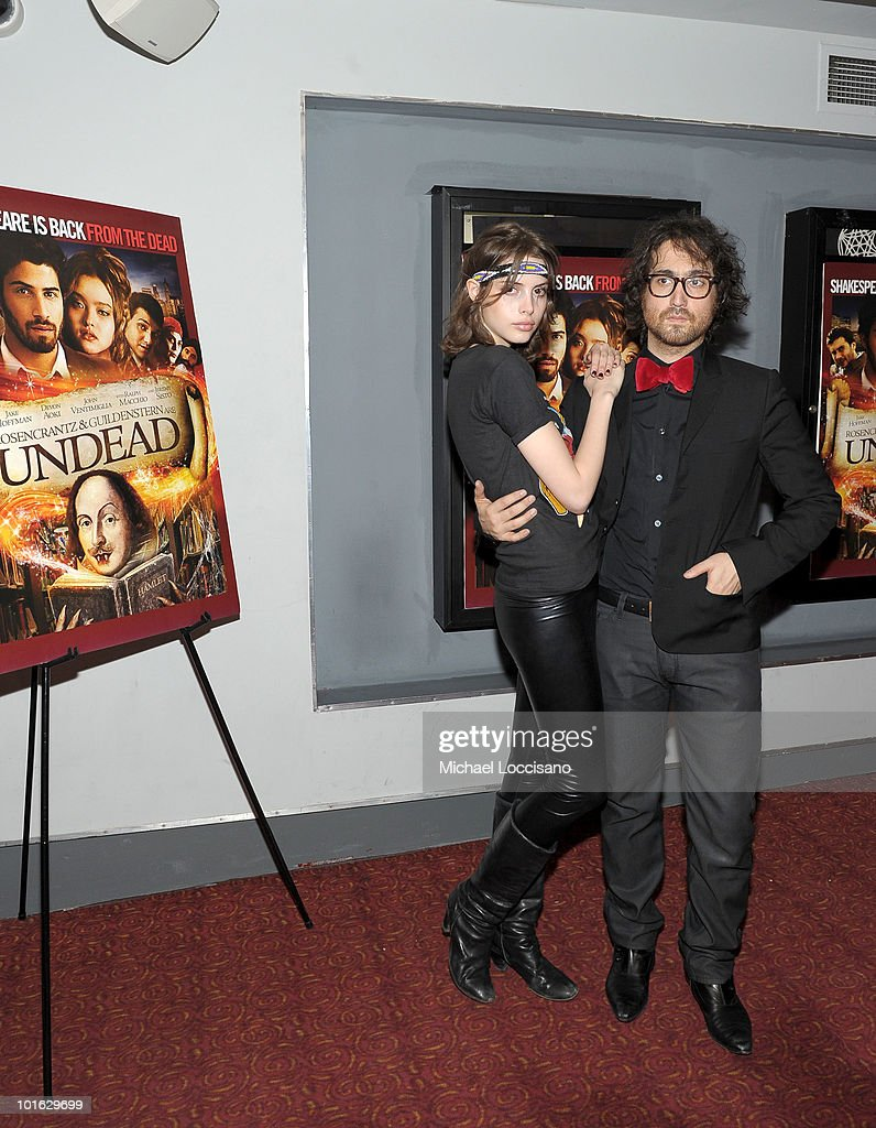 Musician Sean Lennon (R) and Charlotte Kemp Muhl attend the premiere of 'Rosencrantz and Guildenstern Are Undead' at Village East Cinema on June 4, 2010 in New York City.