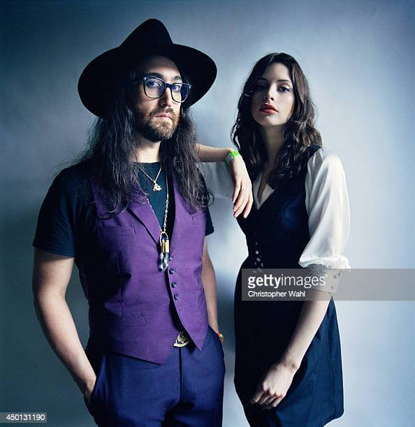 Musician Sean Lennon and his girlfriend model and actress are photographed for Self Assignment on June 4 2014 in Toronto Ontario