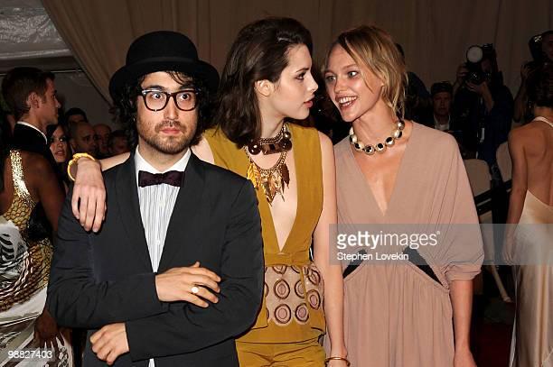 Musician Sean Lennon, Charlotte Kemp Muhl and model Sasha Pivovarova attend the Costume Institute Gala Benefit to celebrate the opening of the...