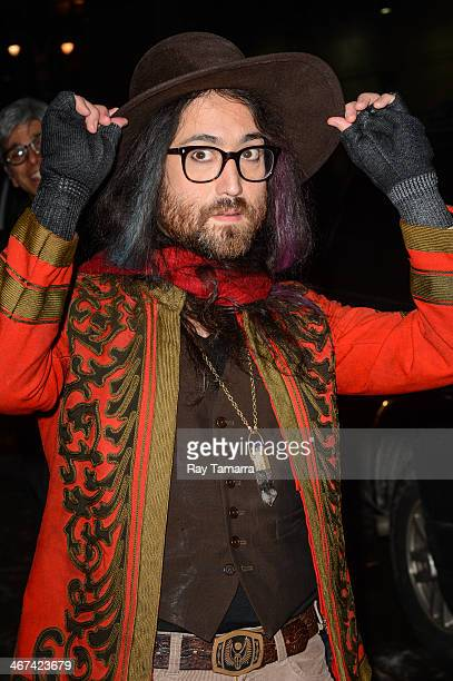 """Musician Sean Lennon leaves the """"Late Show With David Letterman"""" taping at the Ed Sullivan Theater on February 6, 2014 in New York City."""