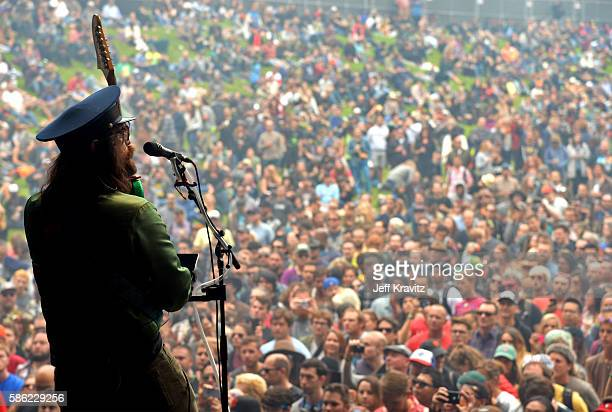 Musician Sean Lennon of Claypool Lennon Delirium performs on the Sutro Stage during the 2016 Outside Lands Music And Arts Festival at Golden Gate...