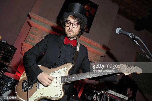 Musician Sean Lennon performs during the after party for the premiere of Rosencrantz and Guildenstern Are Undead at Village East Cinema on June 4...