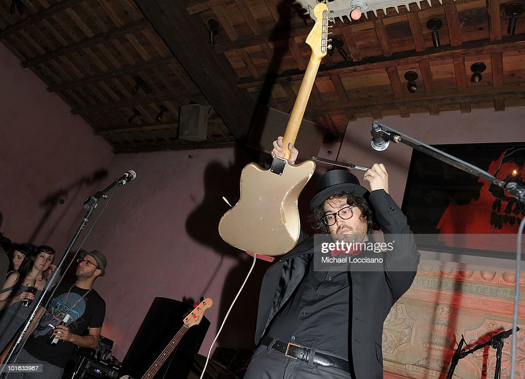 Musician Sean Lennon performs during the after party for the premiere of 'Rosencrantz and Guildenstern Are Undead' at Village East Cinema on June 4, 2010 in New York City.