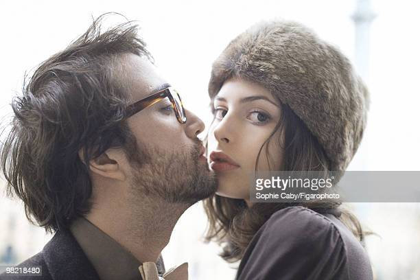 Musician Sean Lennon with his girlfriend model and actress Charlotte Kemp Muhl at a portrait session in Paris for Madame Figaro Magazine in 2009...