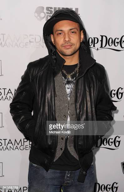 Musician Sean Paul arrives at the Famous Stars and Straps 10th Anniversary and Snoop Dogg 10th Album Release at Vanguard on December 8 2009 in...