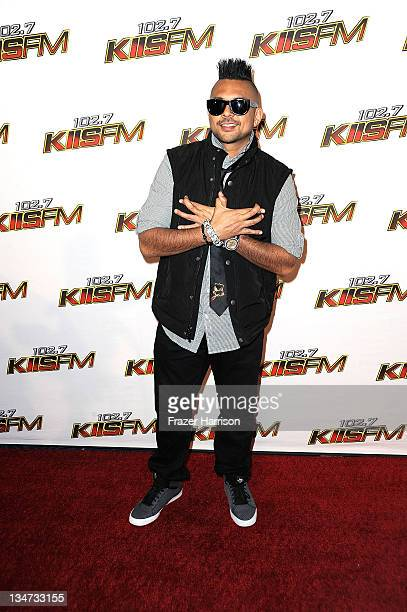 Musician Sean Paul arrives at the KIIS FM's Jingle Ball 2011 at Nokia Theatre LA Live on December 3 2011 in Los Angeles California