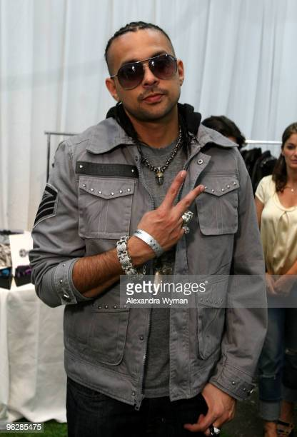 Musician Sean Paul attends GRAMMY Style Studio Day 4 at Smashbox West Hollywood on January 30 2010 in West Hollywood California