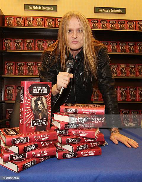 Musician Sebastian Bach during the book signing of 18 And Life On Skid Row at Barnes Noble on December 8 2016 in Eatontown New Jersey