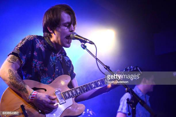 Musician Shannon Inouye of the band Emerson Star performs onstage at The Echo on February 4 2017 in Los Angeles California