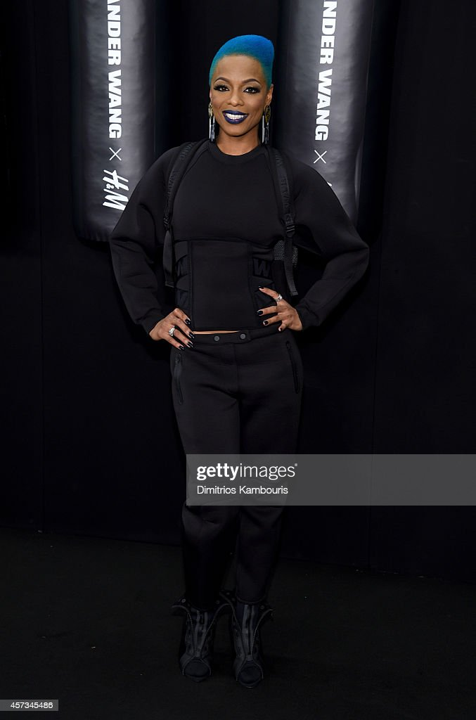 Musician Sharaya J attends the Alexander Wang X H&M Launch on October 16, 2014 in New York City.