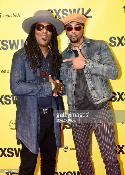 Musician Sharief Hobley and musician Andre Cymone attend 'Birth of a Purple Nation' during 2017 SXSW Conference and Festivals at Austin Convention...