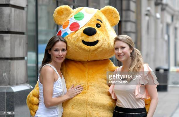 Musician Sharon Corr and Singer Hayley Westenra attend the 'Bandaged Together' album launch at the BBC club on November 5 2009 in London England